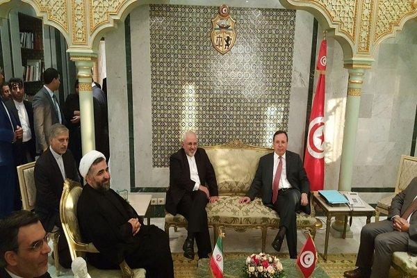 ظريف التقى نظيره التونسي  ورئيس الجمهورية التونسية