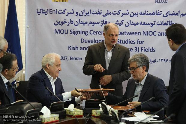 NIOC, Eni sign MoU on oil field development