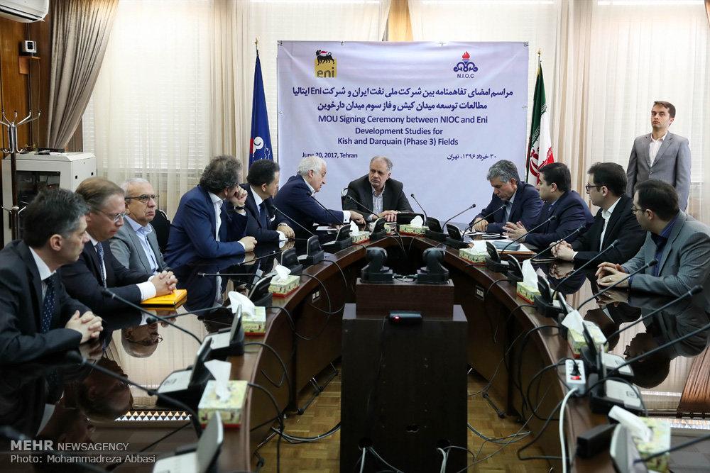 امضای تفاهمنامه بین شرکت ملی نفت ایران و شرکت Eni ایتالیا
