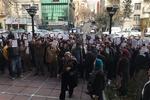 تجمع اعتراضی مالباختگان موسسه مالی آرمان در پاستور