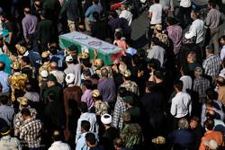 استقبال و تشییع پیکر جانباز دوران دفاع مقدس و شهید مدافع حرم حمید قنادپور
