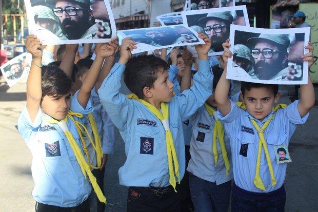 مسيرة لكشافة الرسالة الاسلامية في بيروت في ذكرى الشهيد مصطفى شمران