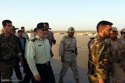 بازدید فرمانده انتظامی کشور از مرزهای شمال سیستان وبلوچستان