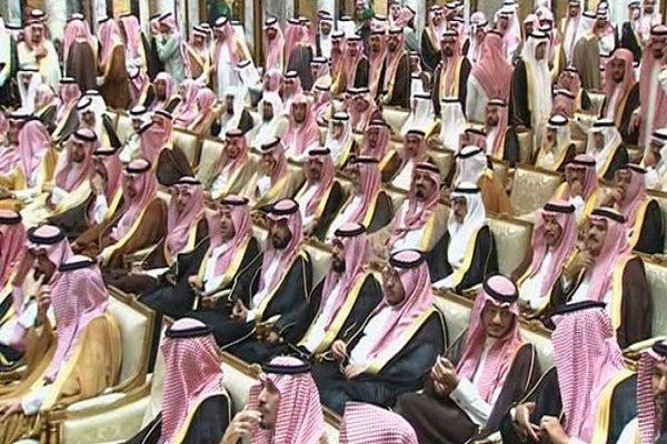 اعتراض شاهزاده سعودی در مراسم بیعت «محمد بن سلمان»+فیلم