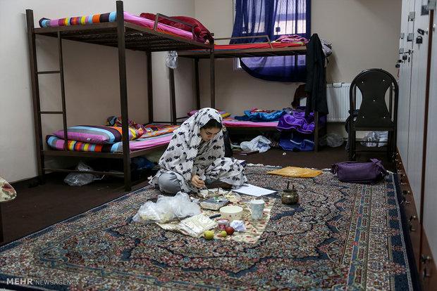 اسکان دانشجویان دانشگاه تربیت مدرس در خوابگاه های تملیکی