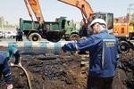 ترکیدگی لوله های انتقال نفت اهواز اصلاح شد
