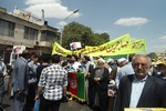 المهاجرون الافغان يشاركون في مسيرة يوم القدس العالمي + صور