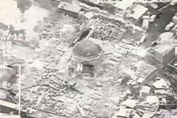 فلم/ وہابی دہشت گردوں نے موصل کی 844 سالہ قدیم مسجد کو شہید کردیا