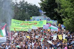 راهپیمایی روز قدس در ارومیه  - زهرا طالعی