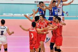 دیدار تیم های والیبال جوانان ایران و ایتالیا