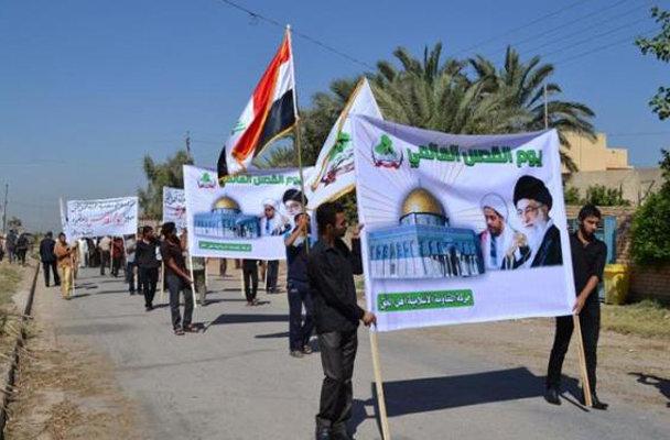 انطلاق تظاهرة سلمية واسعة وسط بعقوبة بمناسبة يوم القدس العالمي