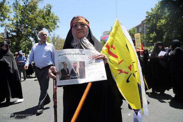 راهپیمایی روز قدس در تهران -۱