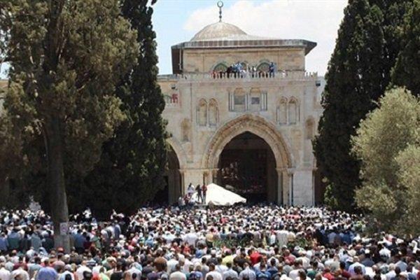 نمازجمعه در مسجدالاقصی