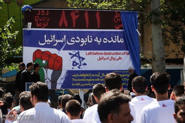 مسيرات شعبية حاشدة في جميع انحاء ايران بمناسبة يوم القدس العالمي