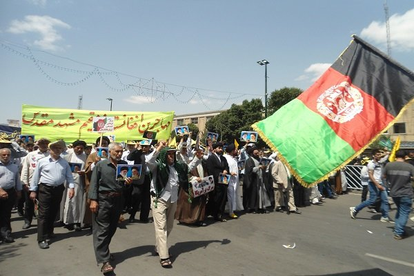 Afghan immigrants mark Quds Day in Ira