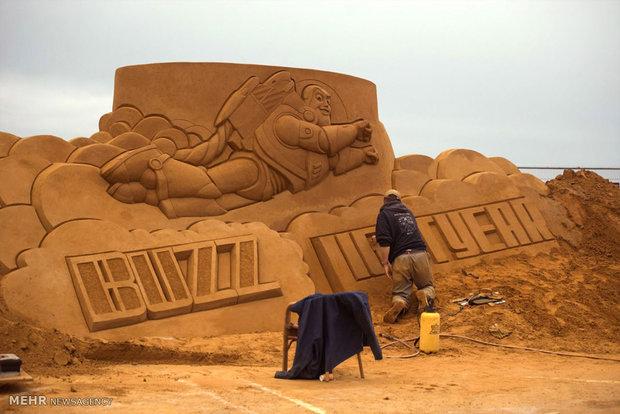 Belçika'daki Kum Heykel Festivali'nden kareler