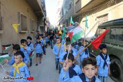 مشاهد من مسيرة يوم القدس في مدينة حمص السورية