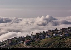 Colorful houses are seen in a steep slope of Filband, a mountainous village adjacent to Babol in northern Iran, Mazandaran province, on June 23, 2017.