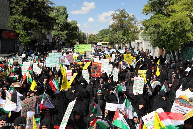 راهپیمایی روز قدس در زنجان  - مهدی الماسی