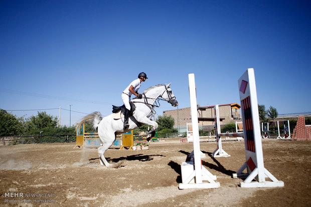 مسابقه پرش با اسب به مناسبت روز قدس