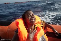 غرق اللاجئين في بحر الابيض المتوسط/صور