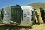 واژگونی آمبولانس در شاهرود ۲ کشته برجای گذاشت