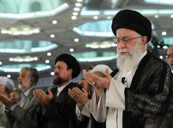 Ayatollah Khamenei led Eid Al-Fitr prayers