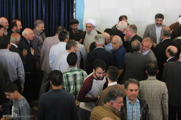 Eid al-Fitr prayers in Hamburg Islamic Center