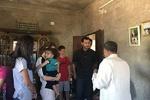فلم/ شامی صدر کا اپنی ہمسر کے ہمراہ حماہ کا دورہ