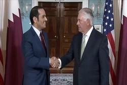 تیلرسون و وزیر خارجه قطر