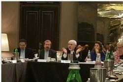 ظريف يشارك في اجتماع المركز الاوروبي للعلاقات الخارجية