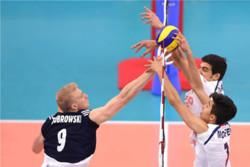 دیدار تیم های والیبال جوانان ایران و لهستان
