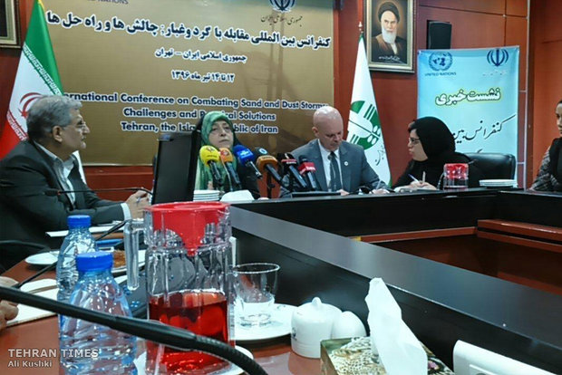 Briefing session on Tehran international conference on dust storms