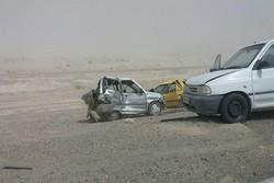 تصادف زنجیره ای محور زابل به زاهدان تلفات جانی نداشت