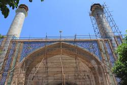 ایوان شمالی مسجد جامع عتیق قزوین ساماندهی و مرمت شد