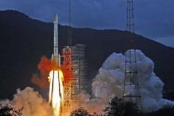 انفجار موشک ماهواره بر چین