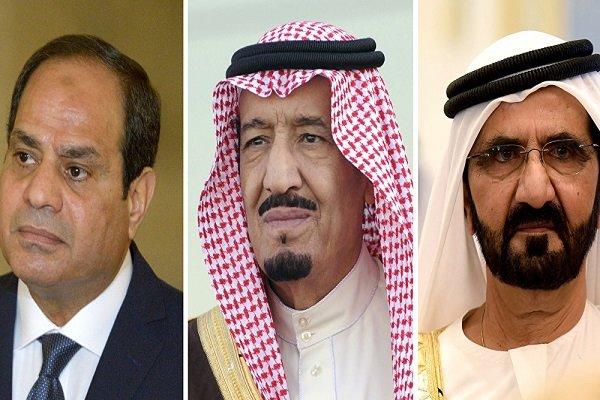 السیسی، ملک سلمان و امارات