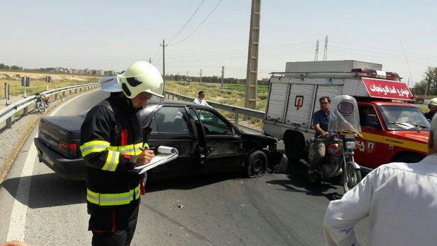 تصادف مرگبار در اتوبان چمران/ال ۹۰ واژگون شد یک نفر جان باخت