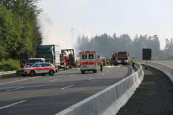 فقدان 18 شخصا وإصابة 30 آخرين بحريق حافلة سياح في ألمانيا