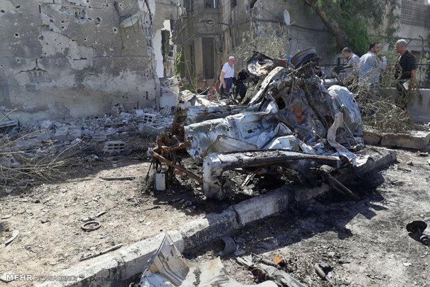 18 قتيلا وجريحا حصيلة التفجير الارهابي في دمشق