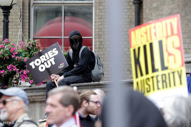 تظاهرات ضد دولتی در لندن