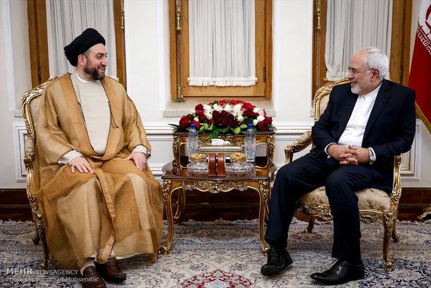 Zarif meets with Ammar Hakim in Tehran