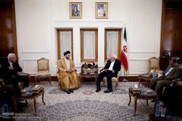 Ammar Hakim discusses Iraq situation with Zarif, Larijani
