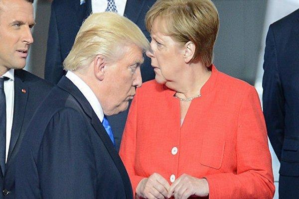 ترامپ و مرکل گفتگو کردند