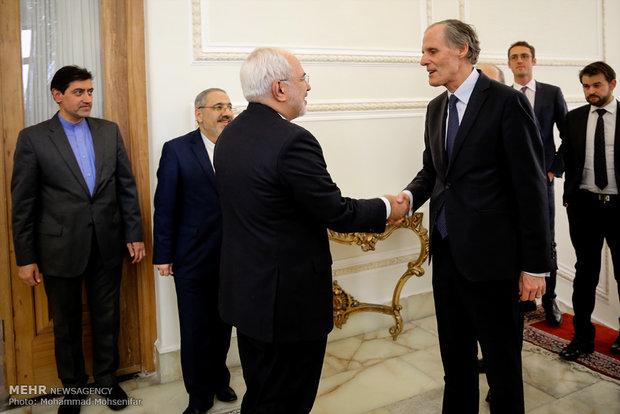 دیدار ظریف با دبیر کل وزارت خارجه فرانسه