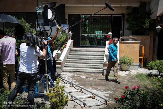 بازدید  مرتضی میرباقری معاونت سیما از مراحل ساخت سریال در جستجوی آرامش