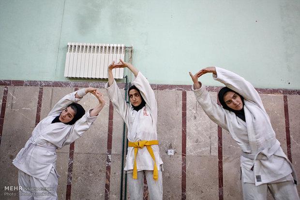 تدريبات منتخب سيدات ايران للجودو