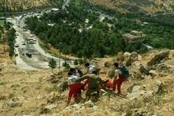 یک شهروند بر اثر سقوط از ارتفاعات طاقبستان جان باخت