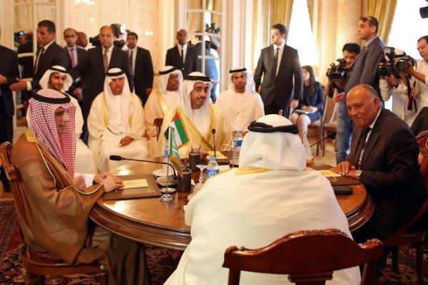 صدور بیانیه مشترک عربستان، امارات، بحرین و مصر علیه ایران و ترکیه,