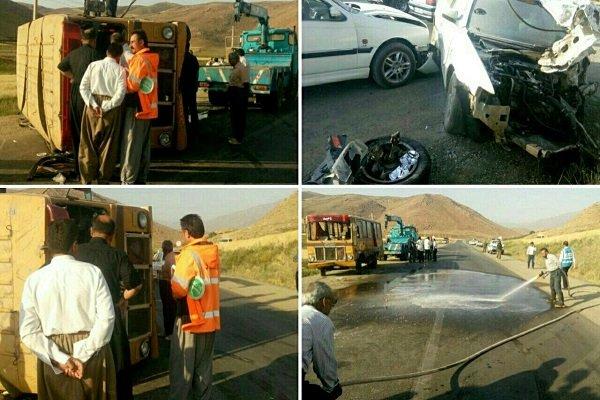 ۶۵ درصد تصادفات برونشهری در ٣٠ کیلومتری شهرها رخ میدهد